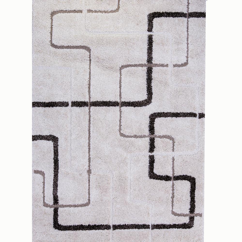 Bazaar Modern Lines Ivory 7 ft. 10 in. x 10 ft. 2 in. Area Rug
