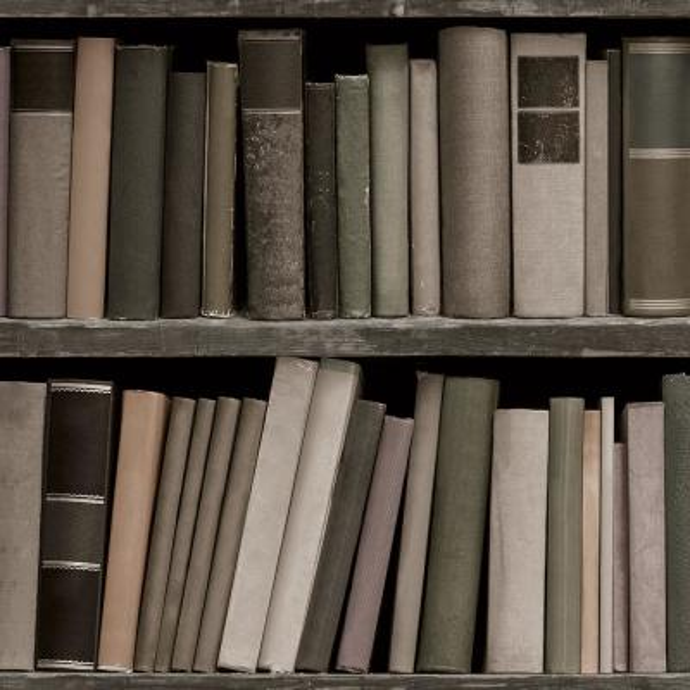 Bookshelf Multi Peel and Stick Wallpaper 56 sq. ft.