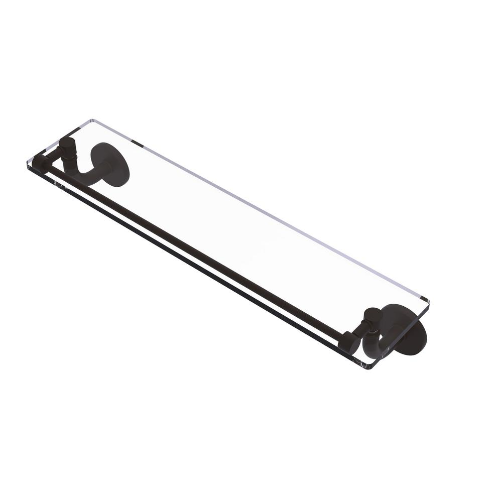 Allied Brass Remi Collection 22 in. Glass Vanity Shelf with Gallery Rail in Oil Rubbed Bronze