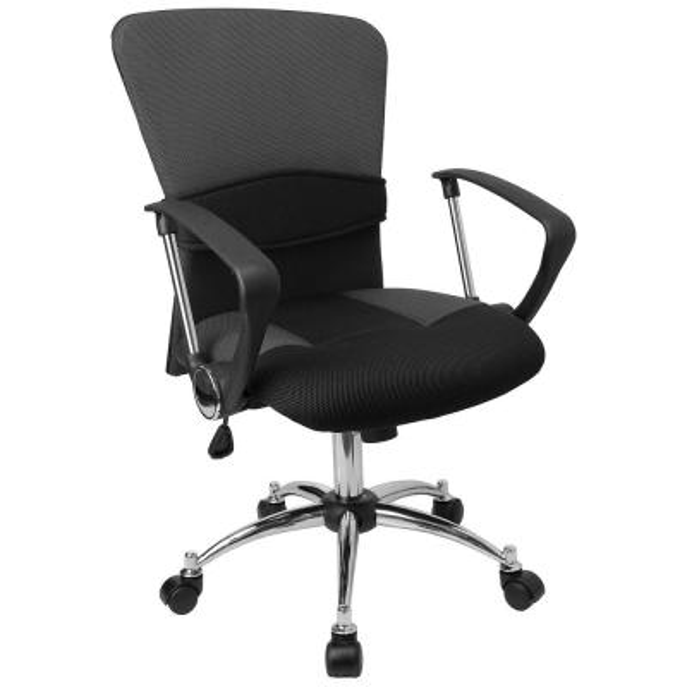 Mid-Back Grey Mesh Swivel Task Chair