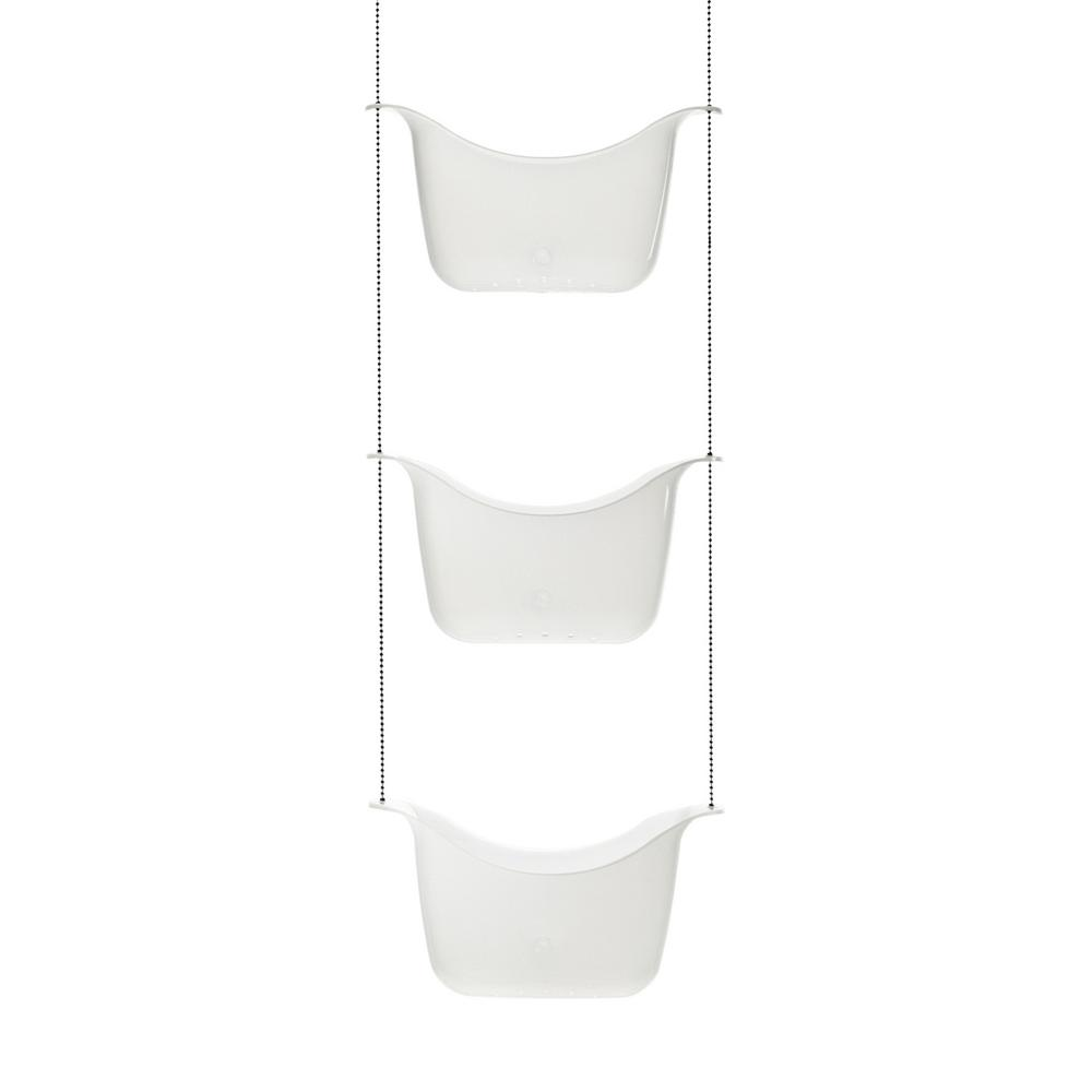 Umbra Bask Shower Caddy White/ Nickel