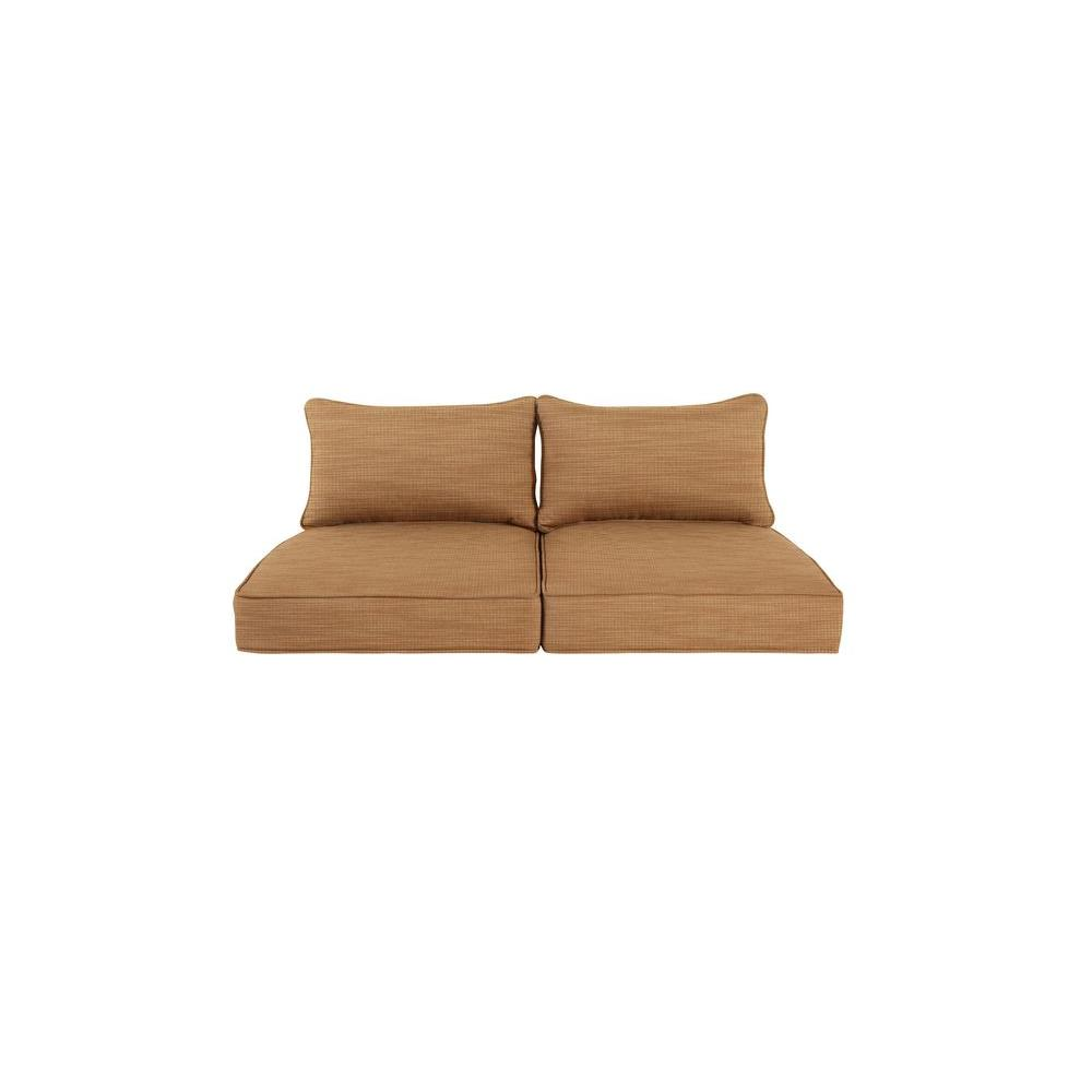 Greystone Replacement Outdoor Loveseat Cushion in Toffee