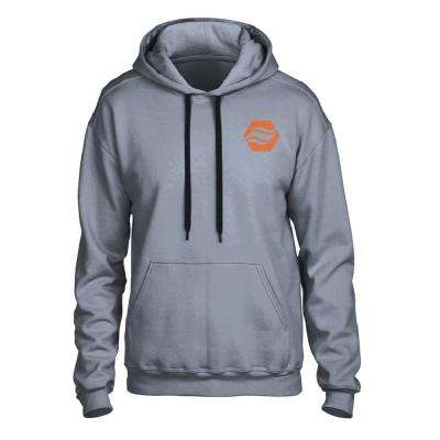 Large/X-Large Gray Heated Cotton 100% Hoodie with Rechargeable Battery