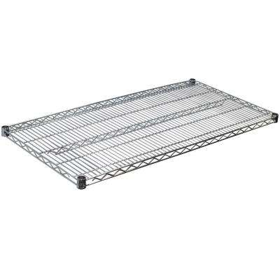 1.5 in. H x 48 in. W x 24 in. D Steel Wire Shelf in Chrome