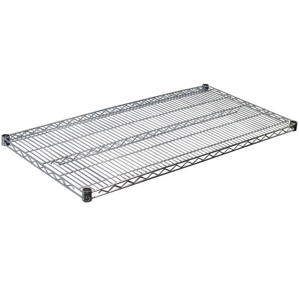 1.5 in. H x 48 in. W x 24 in. D Steel Wire Shelf in Chrome
