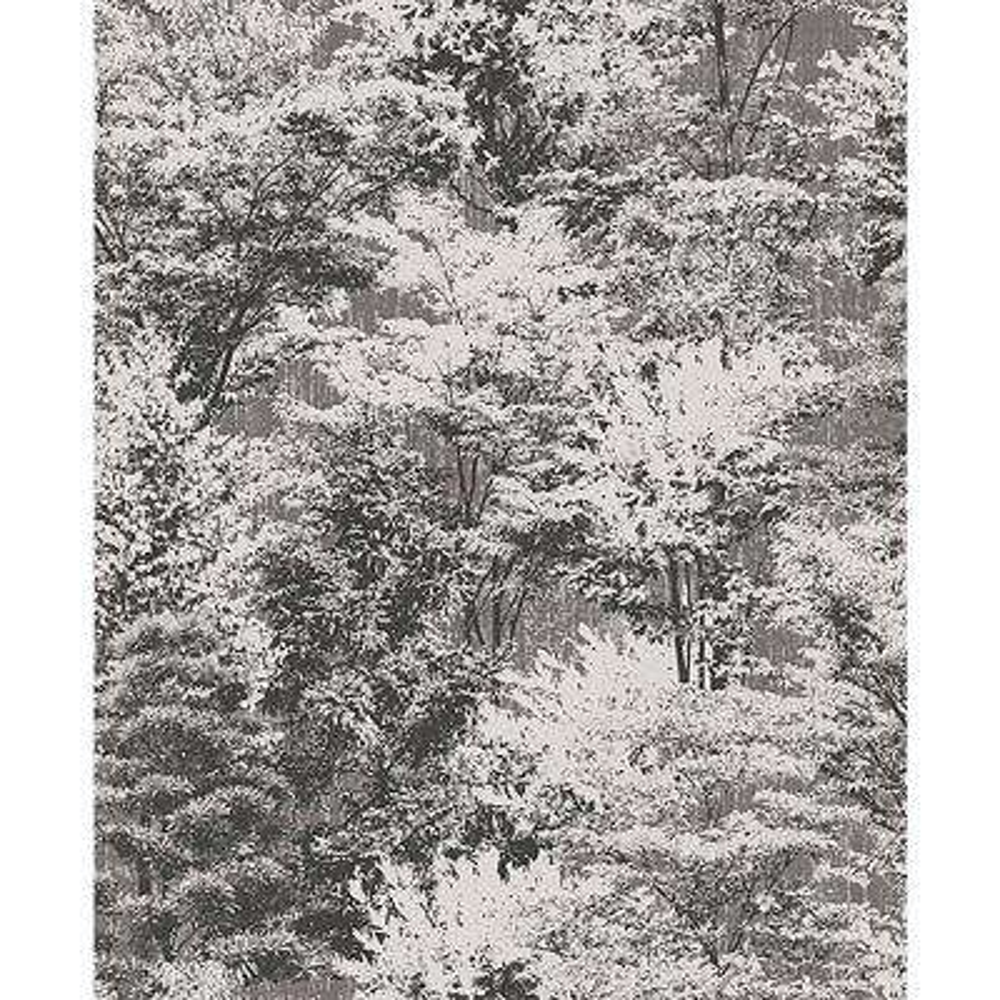 56.4 sq. ft. Camphor Charcoal Trees Wallpaper