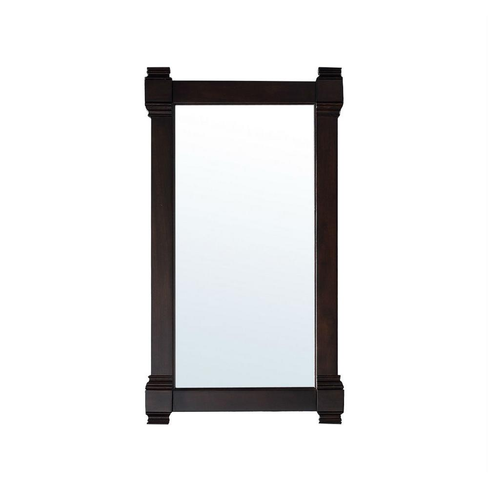 James Martin Vanities Brittany 22 in. W x 39 in. H Framed Wall Mirror in Burnished Mahogany