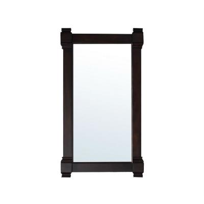 Brittany 22 in. W x 39 in. H Framed Wall Mirror in Burnished Mahogany