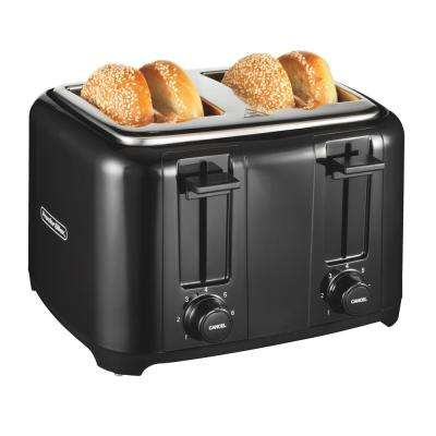 4 Slice Black Cool Touch Toaster