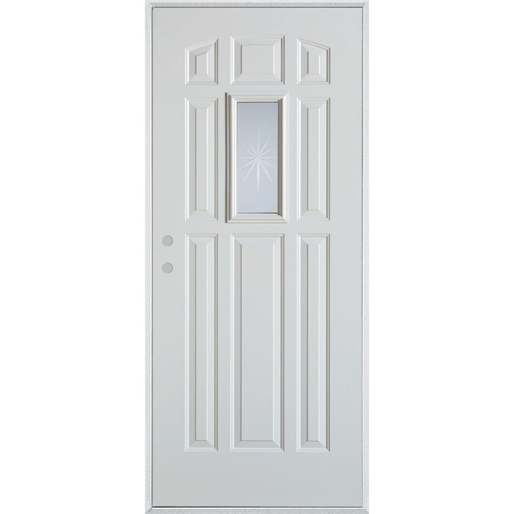Stanley Doors 32 In X 80 In V Groove Rectangular Lite 9 Panel