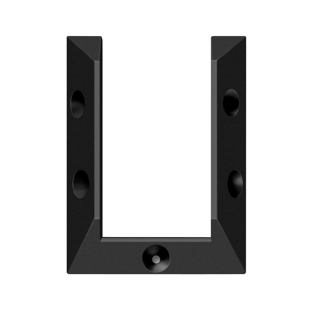 Deckorail Black Rail Connector Bracket 4 Pack 163602 The Home Depot