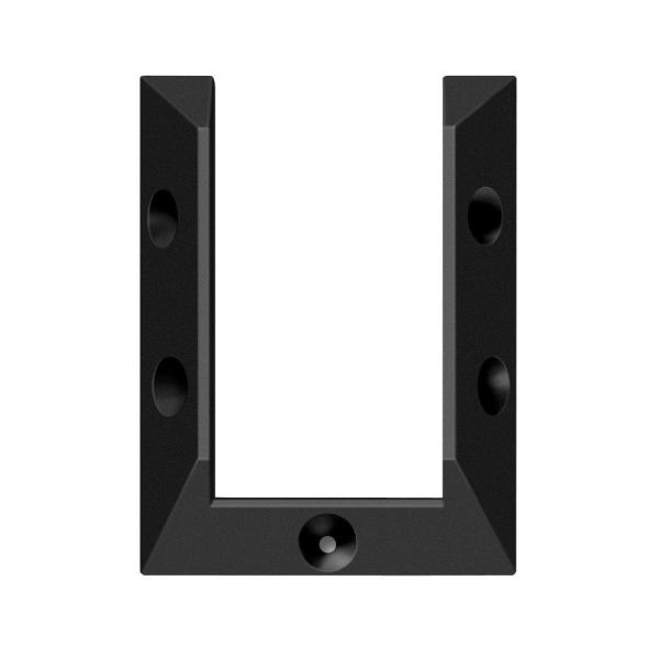 Black Rail Connector Bracket (4-Pack)