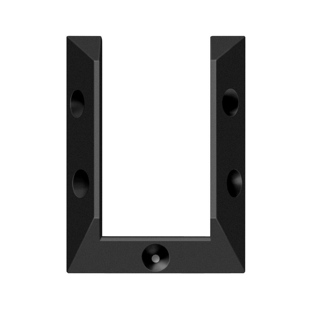 DeckoRail DeckoRail Black Rail Connector Bracket (4-Pack)
