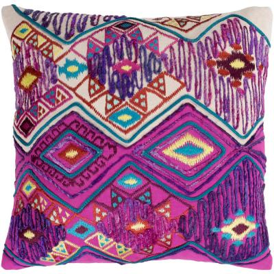 Kare Purple Graphic Polyester 18 in. x 18 in. Throw Pillow