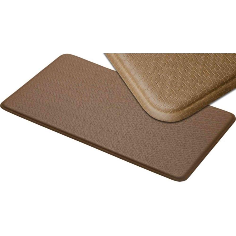 IMPRINT Comfort Mat Cobblestone Latte 26 in. x 72 in. Anti Fatigue Comfort Mat-DISCONTINUED