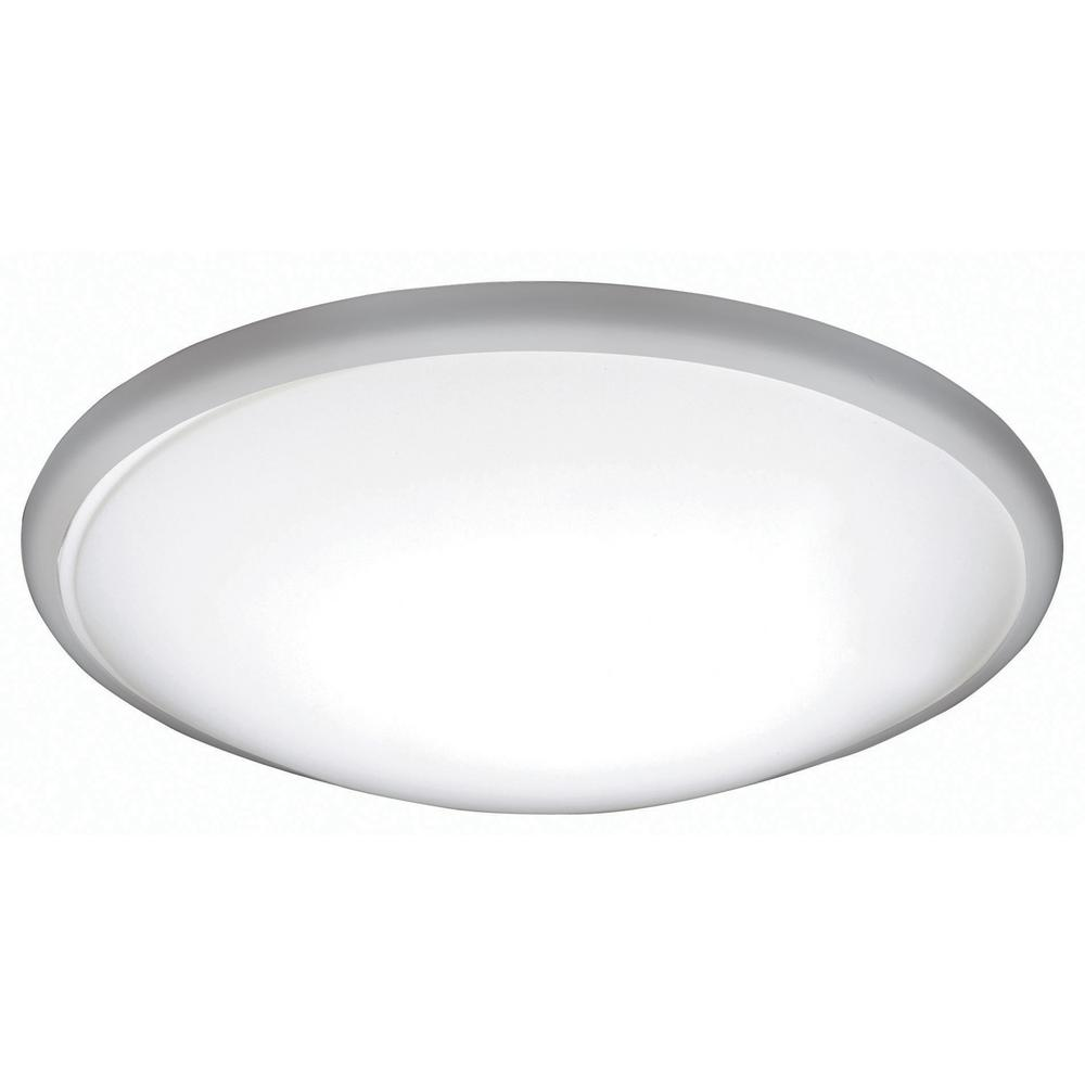 official photos 3ceb5 3d8d9 AFX Capri 11 in. 17-Watt 2700K Brushed Nickel Integrated LED Flush Mount