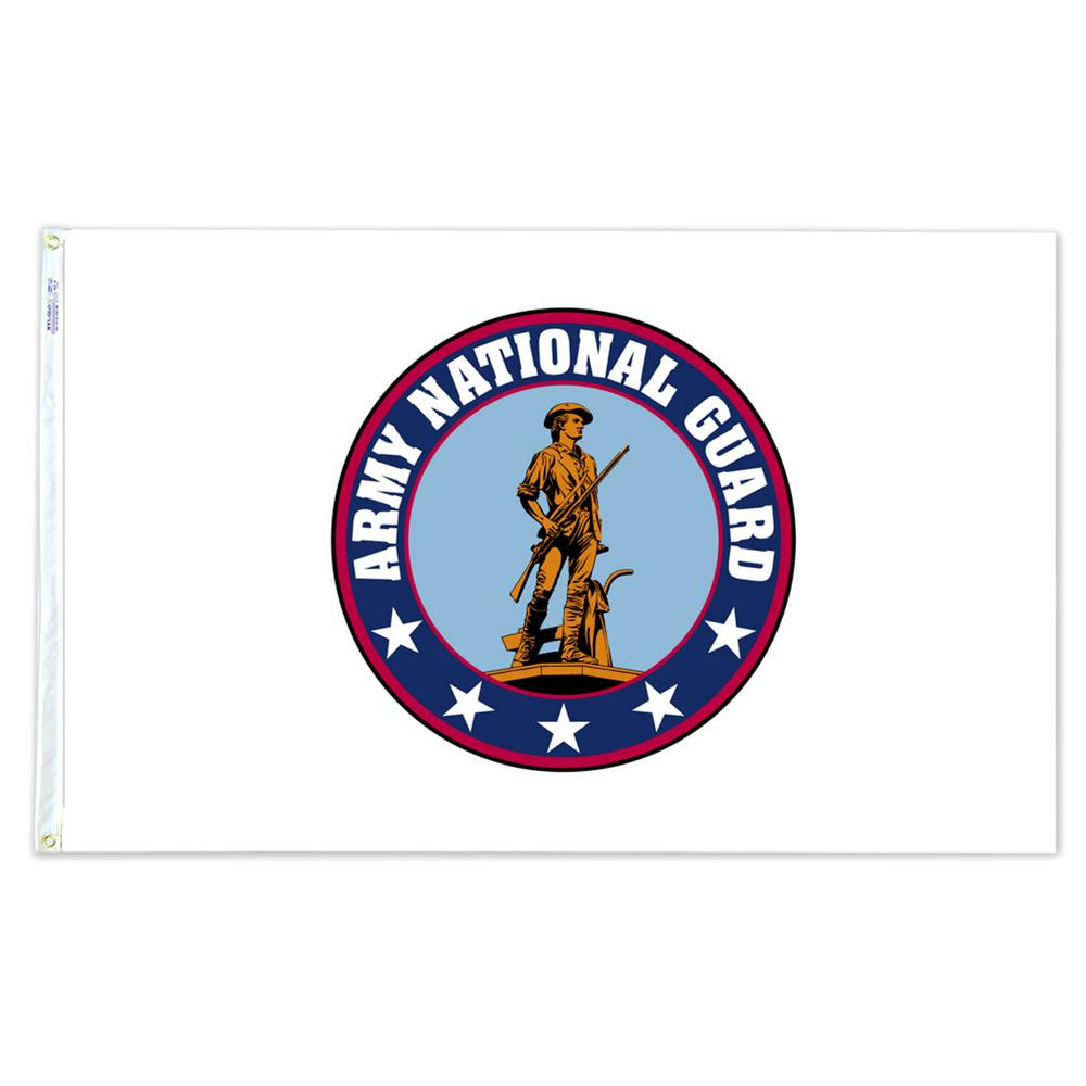 4c0ee20320f8 Annin Flagmakers 3 ft. x 5 ft. Nylon Army National Guard Armed ...