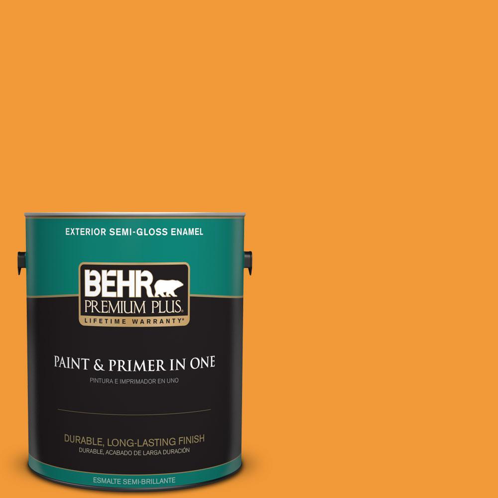 1-gal. #280B-6 Amber Glow Semi-Gloss Enamel Exterior Paint