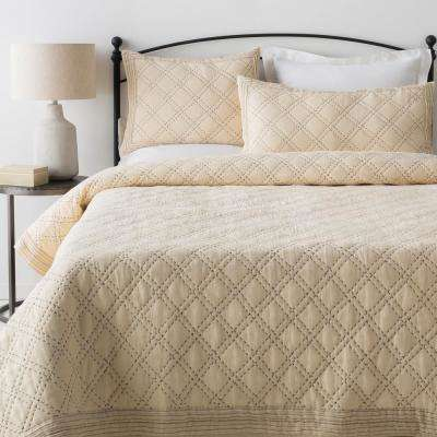 Milena Cream Full/Queen Duvet Set