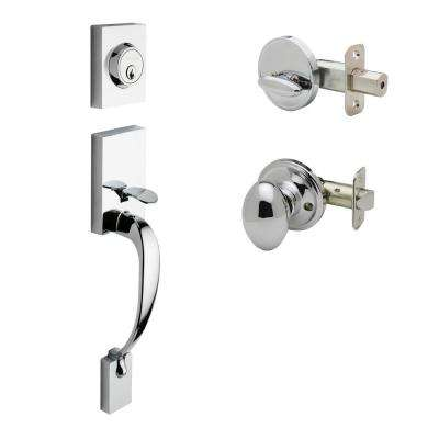 Fashion Polished Stainless Door Handleset and Egg Knob Trim