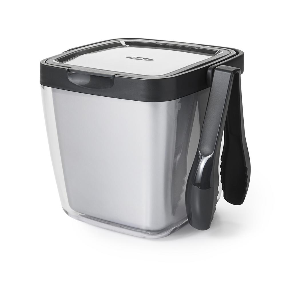 Oxo Good Grips Insulated Plastic 3 Piece Ice Bucket Set With Tongs 11169200 The Home Depot