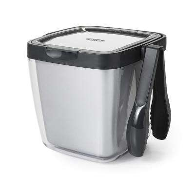 Good Grips Insulated Plastic 3-Piece Ice Bucket Set with Tongs