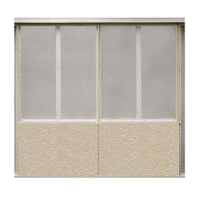 20 sq. ft. Alabaster Fabric Covered Bottom Kit Wall Panel