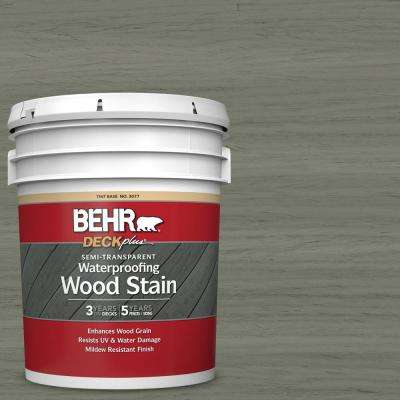 5 gal. #ST-137 Drift Gray Semi-Transparent Waterproofing Exterior Wood Stain