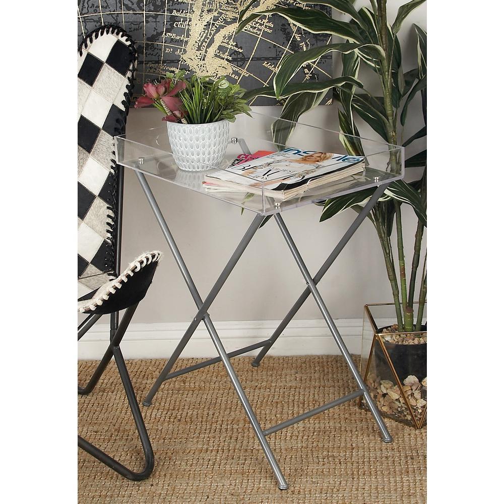 Clear Acrylic Rectangular Tray Table