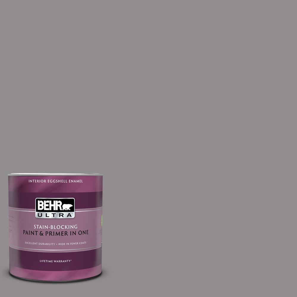 BEHR ULTRA 1 qt. #PPU16-14 Plum Smoke Eggshell Enamel Interior Paint and Primer in One