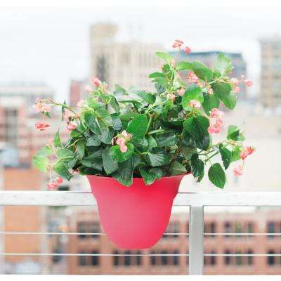 18 x 11 Amaranth Modica Plastic Deck Rail Planter