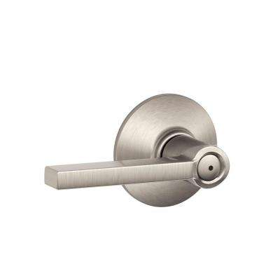 Latitude Satin Nickel Privacy Bed/Bath Door Lever