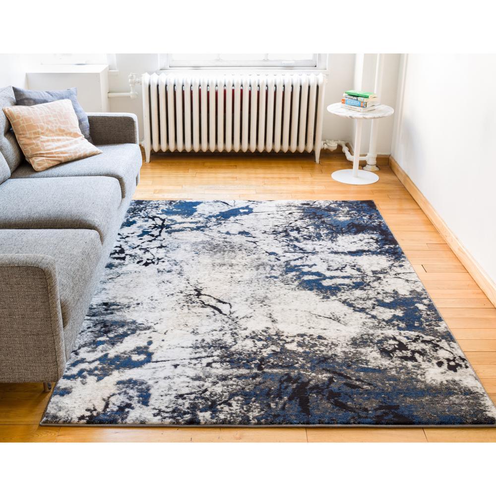 Well Woven Luxbury Supurasshu Blue 5 Ft X 7 Ft Modern
