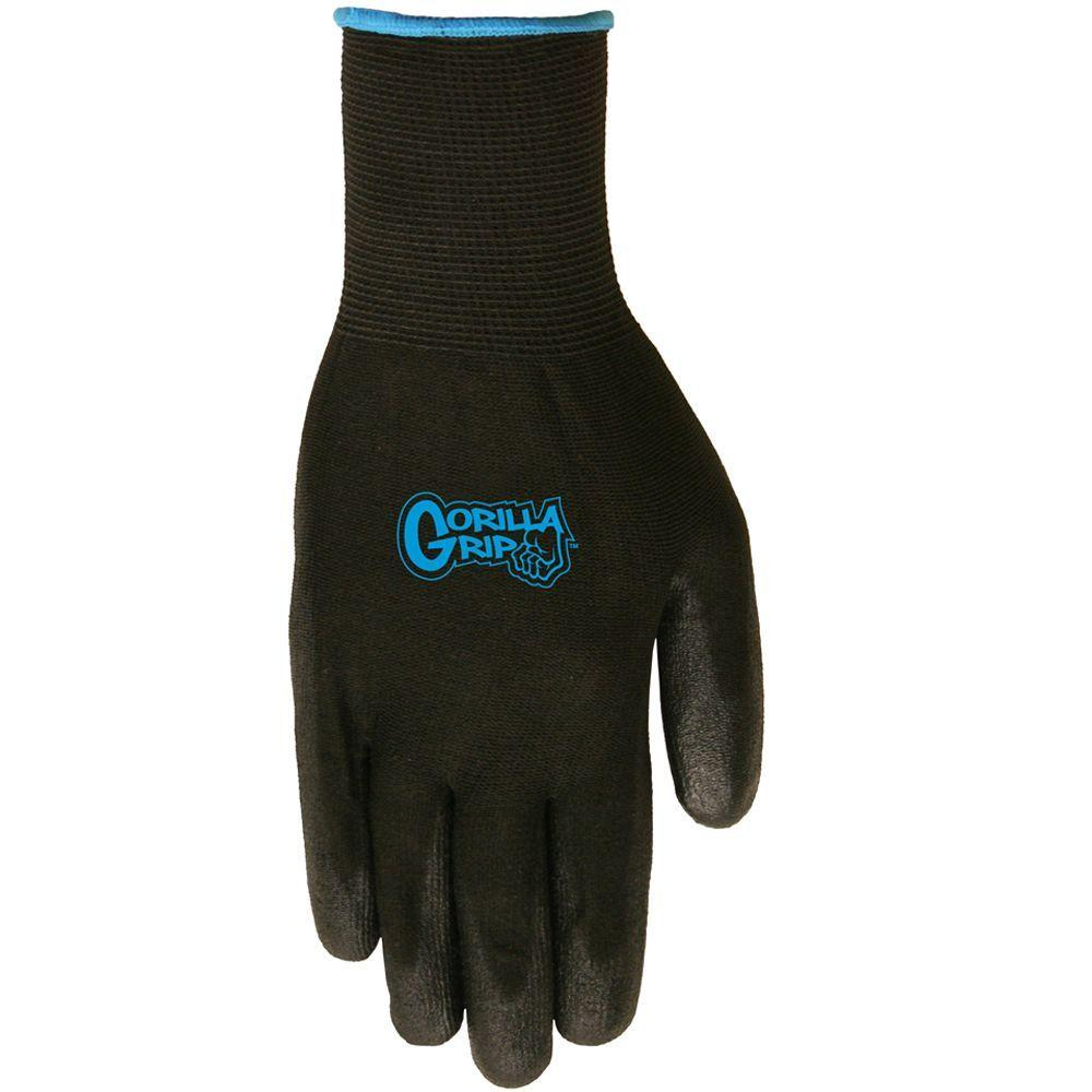 Grease Monkey Large Black Gorilla Grip Gloves 5 Pack