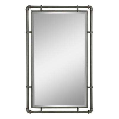Morse Industrial Metal Wall Mirror