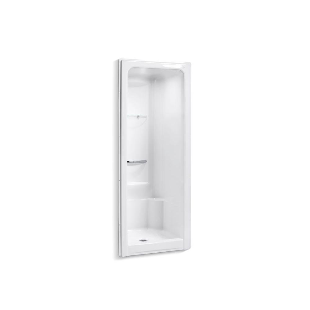 KOHLER Sonata 36 in. x 36-1/2 in. x 90 in. Shower Stall in White