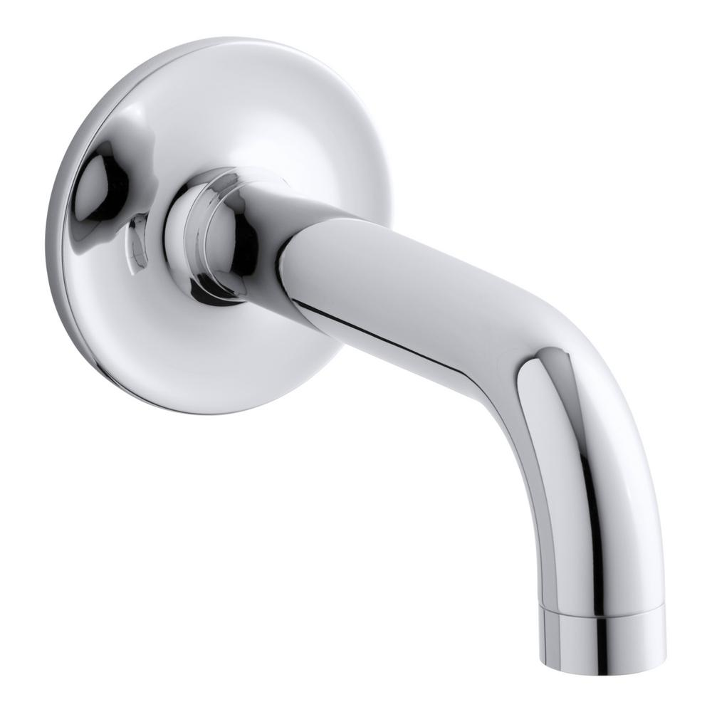 Purist Wall-Mount Non-Diverter Bath Spout in Polished Chrome