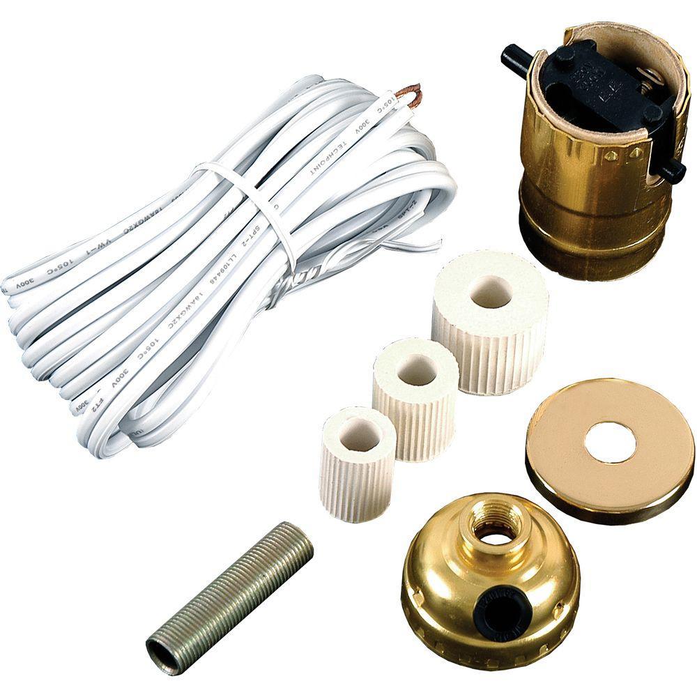 GE Bottle Lamp Kit Cord, White-50961 - The Home Depot