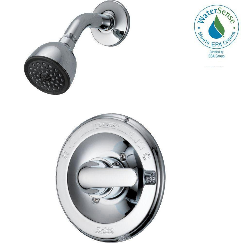 Delta Classic Single Handle 1 Spray Shower Only Faucet In Chrome (Valve  Included