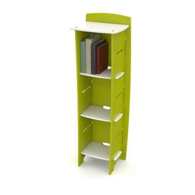 Kid's Bookcase with 3 Shelves in Frog Collection Green and White