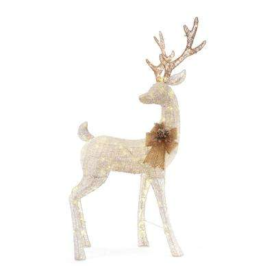 160 light led white pvc deer