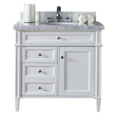 single white vanity with sink. Brittany 36 in  W Single Vanity Cottage White Sink Bathroom Vanities Bath The Home Depot