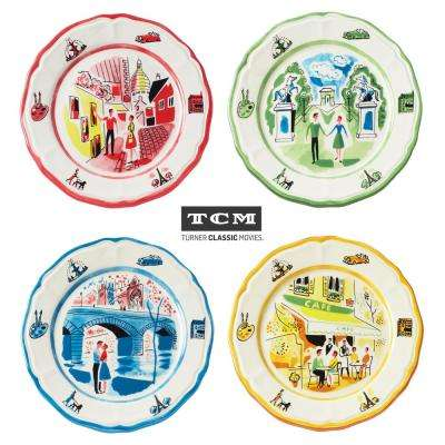 An American In Paris 4-Piece Assorted Salad Plate Set