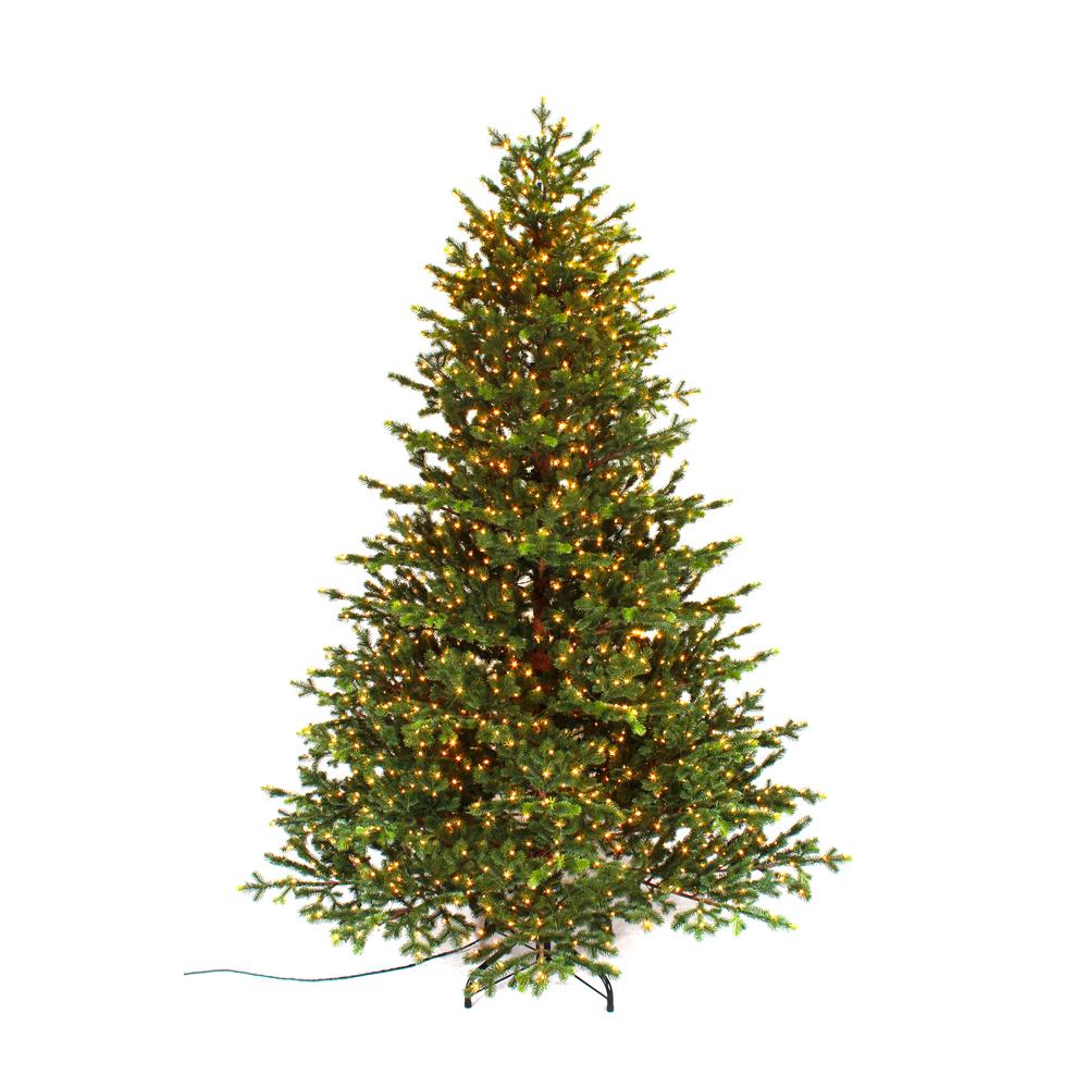home accents holiday 75 ft pre lit led elegant natural fir quick set artificial