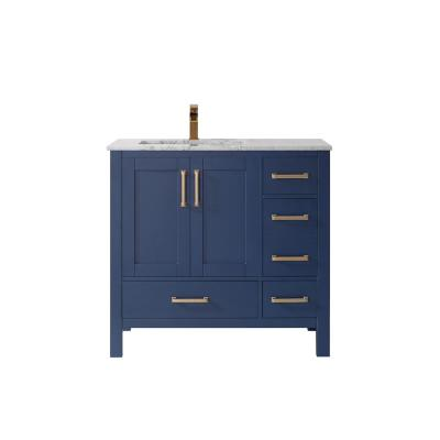 Shannon 36 in. Bath Vanity in Royal Blue with Composite Vanity Top in White with White Basin