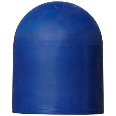 Blue Rubber Dock Pipe Cap