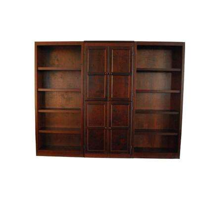 3-Piece Cherry Wall and Storage System (15-Shelves)