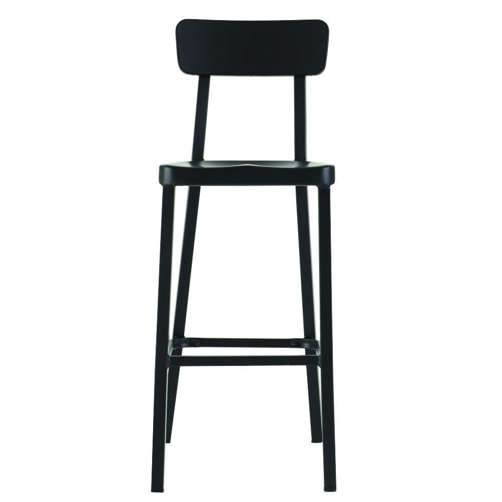 Home Decorators Collection Jacob 30 In. Black Bar Stool With Back