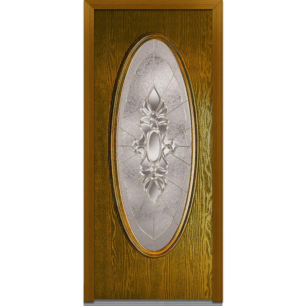32 in. x 80 in. Heirloom Master Left Hand Large Oval