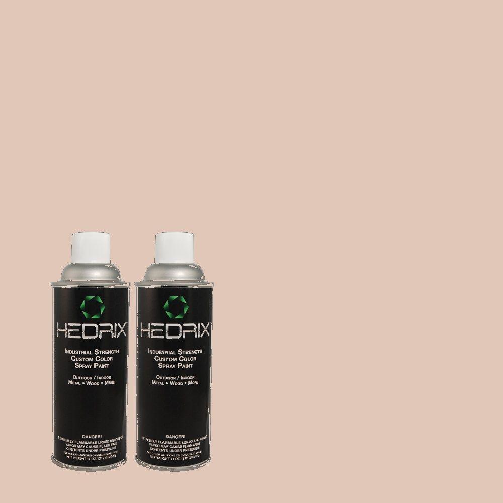 Hedrix 11 oz. Match of MQ3-5 Bella Mia Semi-Gloss Custom Spray Paint (8-Pack)